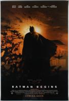 """Batman Begins"" 27x40 Teaser Movie Poster at PristineAuction.com"