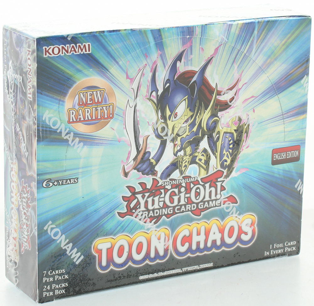 Yu-Gi-Oh Toon Chaos English Edition Booster Box with 24 Packs at PristineAuction.com