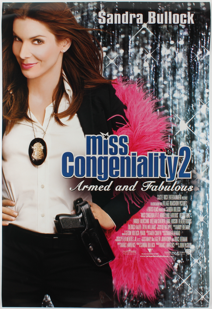"""""""Miss Congeniality 2: Armed and Fabulous"""" 27x40 Movie Poster at PristineAuction.com"""