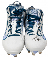 Mike Trout Signed Pair (2) of Angels Father's Day Nike Zoom Baseball Cleats (MLB Hologram) at PristineAuction.com