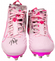 Mike Trout Signed Pair (2) of Angels Pink Nike Zoom Baseball Cleats (MLB Hologram) at PristineAuction.com