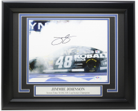 Jimmie Johnson Signed NASCAR 1114 Custom Framed Photo (PSA COA) at PristineAuction.com
