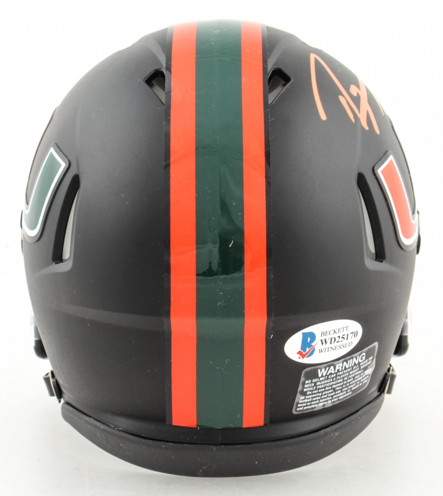 Lot Detail - Ray Lewis Signed Miami Hurricanes Black Matte