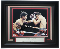 "Manny Pacquiao Signed 11x14 Custom Framed Photo Display Inscribed ""Pacman"" (PSA COA) at PristineAuction.com"