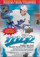 2020-21 Upper Deck MVP NHL Hockey Blaster Box of (105) Cards at PristineAuction.com