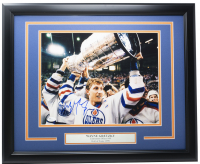 Wayne Gretzky Signed Oilers 16x20 Custom Framed Photo Display (JSA COA) at PristineAuction.com