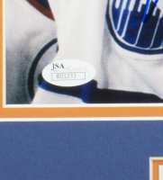 Wayne Gretzky Signed Oilers 16x20 Custom Framed Photo Display (JSA COA) at PristineAuction.com
