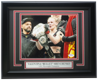 "Valentina Shevchenko Signed 11x14 Custom Framed Photo Inscribed ""Bullet"" (PSA COA) at PristineAuction.com"