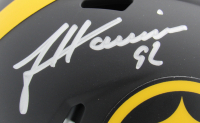 James Harrison Signed Steelers Eclipse Alternate Speed Mini Helmet (Beckett COA) at PristineAuction.com