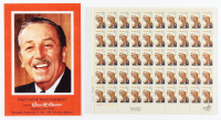 Vintage 1968 Original Walt Disney Full Uncut Stamp Sheet with (50) Stamps at PristineAuction.com