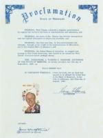 Vintage 1968 Original Walt Disney Full Uncut Stamp Sheet with (50) Stamps at PristineAuction.com