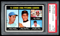 1967 Topps #236 NL Pitching Leaders / Sandy Koufax / Juan Marichal / Bob Gibson / Gaylord Perry (PSA 6) at PristineAuction.com