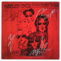 "Motley Crue Signed ""Greatest Hits"" Vinyl Record Album Cover Signed By (4) With Vince Neil, Tommy Lee, Nikki Sixx & Mick Mars (JSA LOA) at PristineAuction.com"