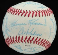 All-Stars & Hall-of-Famers OL Baseball Signed by (21) Including Brooks Robinson, Al Kaline, Gary Carter, Billy Williams, Steve Carlton, Harmon Killebrew (JSA ALOA) at PristineAuction.com