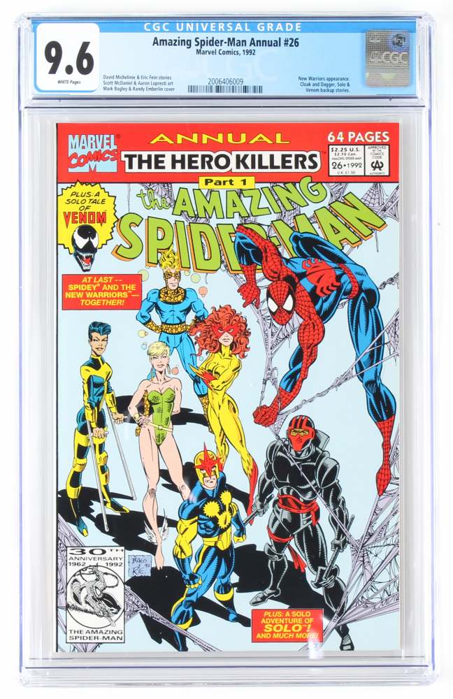"1992 ""The Amazing Spider-Man"" Annual Issue #26 Marvel Comic Book (CGC 9.6) at PristineAuction.com"
