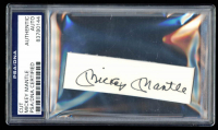 Mickey Mantle Signed 1x3.5 Cut (PSA Encapsulated) at PristineAuction.com