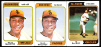 Lot of (3) Baseball Cards with (2) Willie McCovey 1974 Topps #250A SD & Jim Palmer 1974 Topps #40 at PristineAuction.com