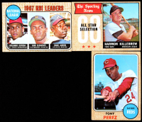 Lot of (3) Baseball Cards with Tony Perez 1968 Topps #130 & Harmon Killebrew 1968 Topps #361 AS at PristineAuction.com