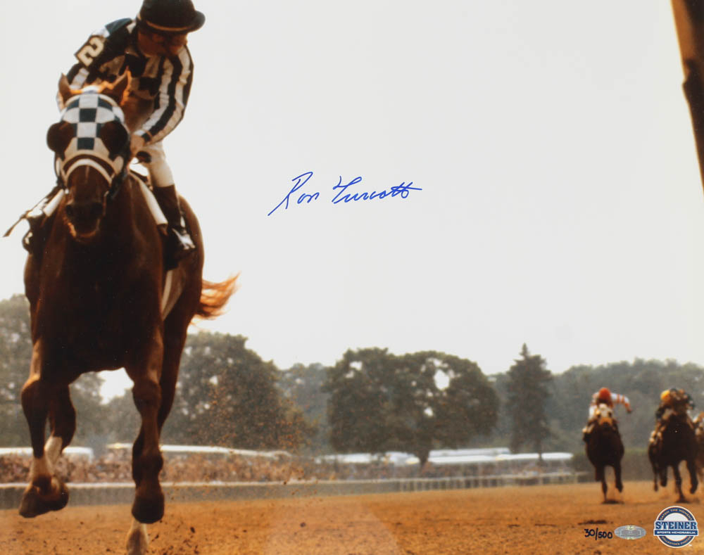 Ron Turcotte Signed LE 16x20 Photo (Steiner Hologram) at PristineAuction.com