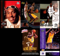 Lot of (5) Kobe Bryant Basketball Cards with 1996-97 Upper Deck #58 RC at PristineAuction.com