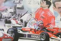 Racing Legends 18x24 Lithograph Signed by (11) with Danny Sullivan, Bobby Unser, Al Unser Jr., Al Unser Sr. (JSA Hologram) at PristineAuction.com