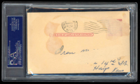 Cy Young Signed Government Postcard (PSA Encapsulated) at PristineAuction.com