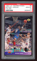 Michael Jordan 1992-93 Upper Deck International Italian #5 All-Star (PSA 10) at PristineAuction.com