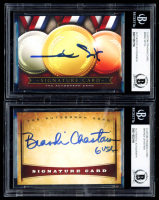 Lot of (2) Signed Trading Cards with Brandi Chastain & Mark Spitz (BGS Encapsulated) at PristineAuction.com