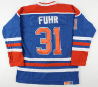 """Grant Fuhr Signed Oilers Jersey Inscribed """"HOF 03"""" (Beckett COA) at PristineAuction.com"""