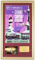 Vintage Disneyland 14.75x25.75 Custom Framed Print Display with Vintage Disneyland Postcard, E-Ride Ticket & Bronze Pin at PristineAuction.com