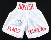 "Buster Douglas Signed Boxing Trunks Inscribed ""Tyson KO 2/11/90"" (JSA COA) at PristineAuction.com"