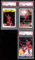 Lot of (3) PSA Graded Michael Jordan Basketball Cards with 1991-92 Hoops #317 (PSA 7), 1992-93 Upper Deck International Italian #118 (PSA 7) & 1993-94 Hoops #28 (PSA 8) at PristineAuction.com