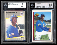 Lot of (2) Beckett Graded Ken Griffey Jr. Baseball Cards with 1989 Fleer #548 RC (BGS 8.5) & 1989 Bowman #220 RC (BGS 8) at PristineAuction.com
