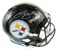 Steelers Speed Full-Size Helmet Signed by (6) with Hines Ward, Le'Veon Bell, Jerome Bettis, Jack Lambert, Mel Blount, & Franco Harris (PSA LOA) at PristineAuction.com