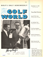 """Gary Player Signed 1965 """"Gold World"""" Magazine Page (JSA COA) at PristineAuction.com"""