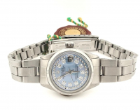 Rolex Diamond Oyster Perpetual Women's Wristwatch with Box, Papers, & Tag at PristineAuction.com