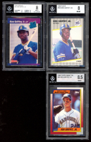 Lot of (3) BGS Graded Ken Griffey Jr. Baseball Cards with 1989 Fleer #548 RC (BGS 8), 1989 Donruss #33 Rated Rookie RC (BGS 8) & 1990 Topps Debut '89 #46 (PSA 8.5) at PristineAuction.com
