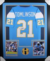 LaDainian Tomlinson Signed 35x43 Custom Framed Jersey (Beckett COA) at PristineAuction.com