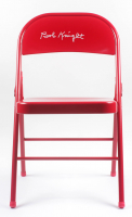Bobby Knight Signed Red Metal Folding Chair (Schwartz COA) at PristineAuction.com
