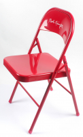 Bobby Knight Signed Red Metal Folding Chair (Schwartz Sports COA) at PristineAuction.com