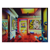 """Ferjo Signed """"Pop Interior"""" Limited Edition 24x18 Giclee on Canvas at PristineAuction.com"""