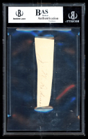 Calvin Coolidge Signed 1x3.5 Cut (BGS Encapsulated) at PristineAuction.com