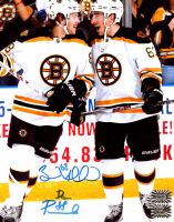 Brad Marchand & David Pastrnak Signed Bruins 8x10 Photo (Marchand COA & Pastrnak COA) at PristineAuction.com
