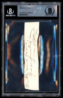 General George S. Patton Signed 1.5x5 Cut With Inscription (BGS Encapsulated) at PristineAuction.com