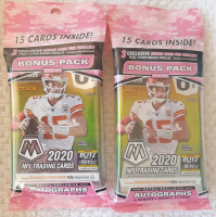Lot of (2) 2020 Panini Mosaic Football Cello Pack with (15) Cards at PristineAuction.com