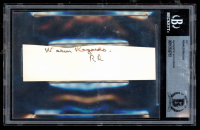 """Ronald Reagan Signed 1.5x5 Cut Inscribed """"Warm Regards"""" (BGS Encapsulated) at PristineAuction.com"""