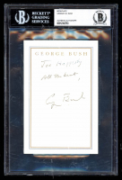 "George H. W. Bush Signed 4x6 Cut Inscribed ""All the Best"" (BGS Encapsulated) at PristineAuction.com"