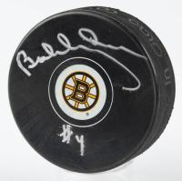 Bobby Orr Bruins Signed Official NHL Bruins Logo Puck (Orr COA) (See Description) at PristineAuction.com
