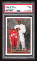 LeBron James 2003-04 Topps First Edition #221 RC (PSA 7) at PristineAuction.com