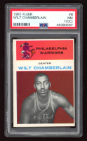 Wilt Chamberlain 1961-62 Fleer #8 RC (PSA 7) (OC) at PristineAuction.com